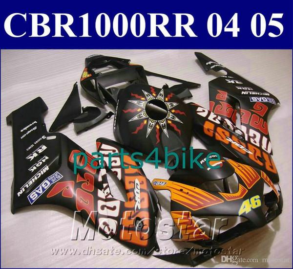 Lowest price fairing kit for HONDA Original mold fairings CBR1000 RR 2004 2005 orange matte black 44 motorcycle parts 04 05 CBR1000RR SL25