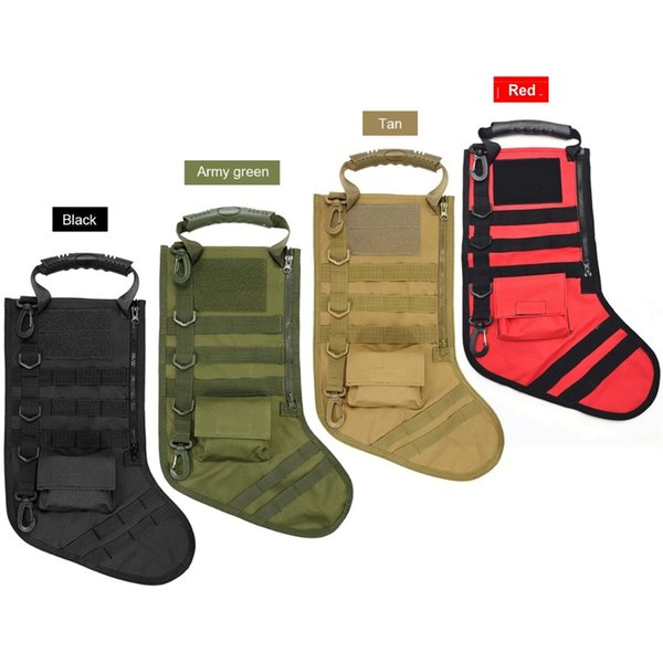 Tactical Christmas Stocking.2019 Tactical Molle Christmas Stocking Utility Storage Bag Hunting Military Airsoft Magazine Dump Drop Pouch Christmas Gift Sock Pack 562919 From