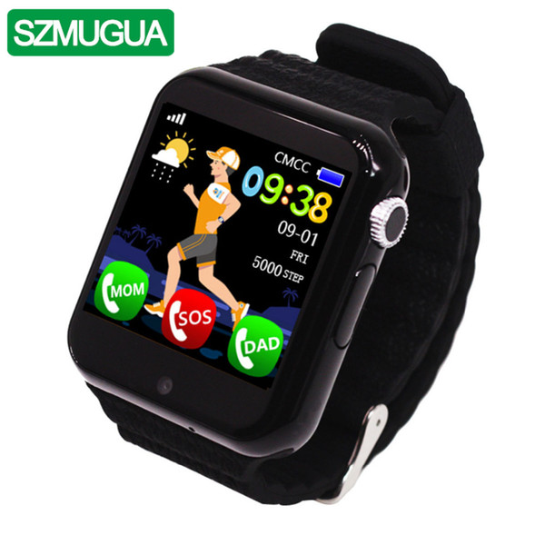 SZMUGUA Children Smart Watch V7K Security Anti-lost GPS Tracker Waterproof SIM Card Camera Kid SOS Emergency For iOS Android