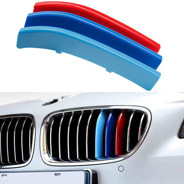 3 unids Airspeed Car 3D M Styling Rejilla Delantera Parrilla Bumper Strip Pegatina para BMW 5 Series F10 2014-2017 Auto Accesorios