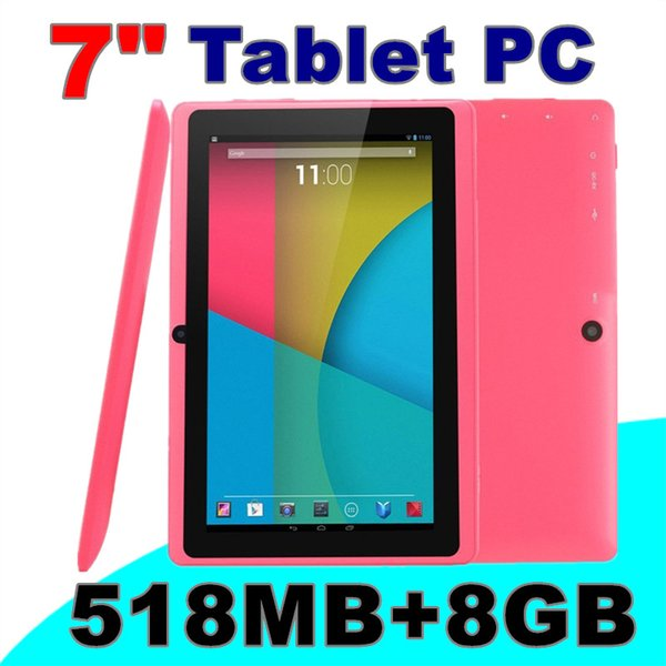 10X 7 inch Capacitive Allwinner A33 Quad Core Android 5.1 dual camera Tablet PC 8GB 512MB WiFi flash Protective film capacitance pen E-7PB
