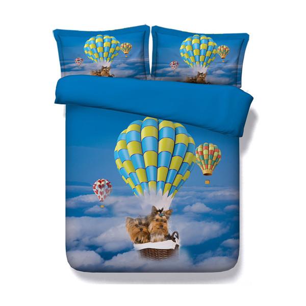 Dogs Duvet Cover Set Includes 3pcs Bedding Set 1 Duvet Cover 2 Pillow Shams Puppy Pattern Print for Kids Boys Girls Bedroom Domitory Bed Set