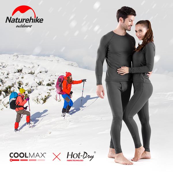 f7cc82d5c39b Naturehike Women's Ultra Soft Winter Base Layering Set Microfiber Fleece  Thermal Underwear Long Johns Set with