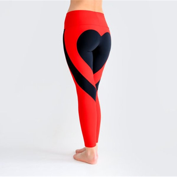 Ladies Sexy Gym Wear Yoga Pants Love design Leggings Workout Tights for Women Heart Booty Pants Push Up Running Fitness #103846