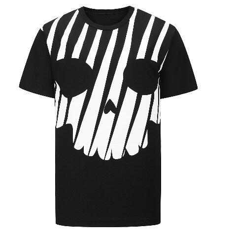 2019 New Hot Style Tide Men Cotton Tshirt Skull Diamond High Quality T-Shirt Casual Tops Tees