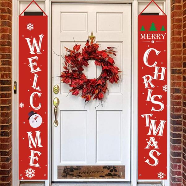 Buon Decorazioni di Natale appeso Banner Natale Hanging Segno Per visualizzazione dell'interno Porta Outdoor Decorazioni di Natale