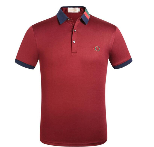 Brand New Luxury designer fashion casual men polo t shirts embroidery snake bee floral stripe print mens polos