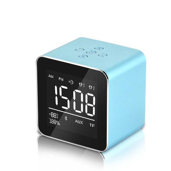 LED Alarm Clock Radio FM Altoparlante Bluetooth portatile Plug in Memory Display per sveglia Orologio compatibile per smartphone