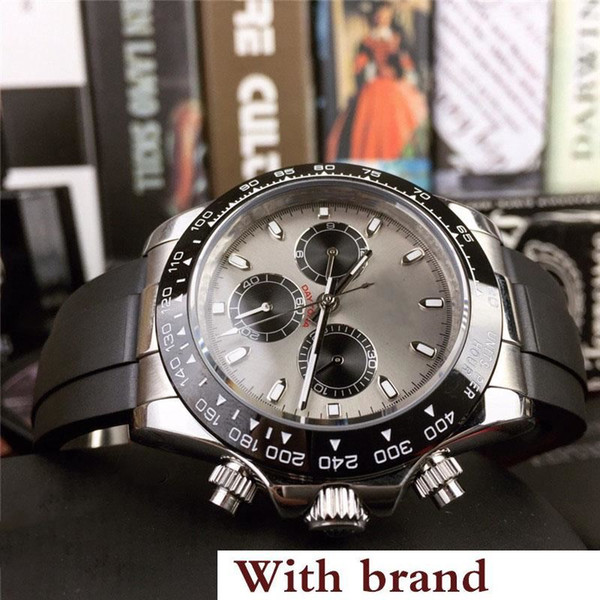 2019 quality men watch dayton 116518 all ubdial work men automatic movement ceramic bezel rubber trap watche