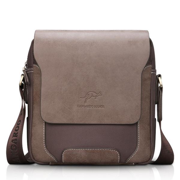 Vendita CALDA! Casuale di modo cuoio superiore degli uomini di Oxford Borsa a spalla Crossbody Bag Brand Design Uomini Vintage Messenger bag Affari
