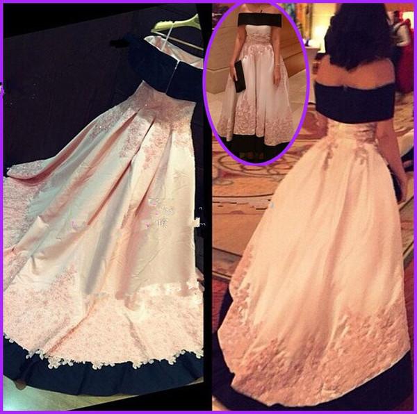 Vinatage с плеча формальные вечерние платья реальные фотографии кружевные аппликации плюс размер свадебные знаменитости выпускного вечера платья арабский BWLF1046