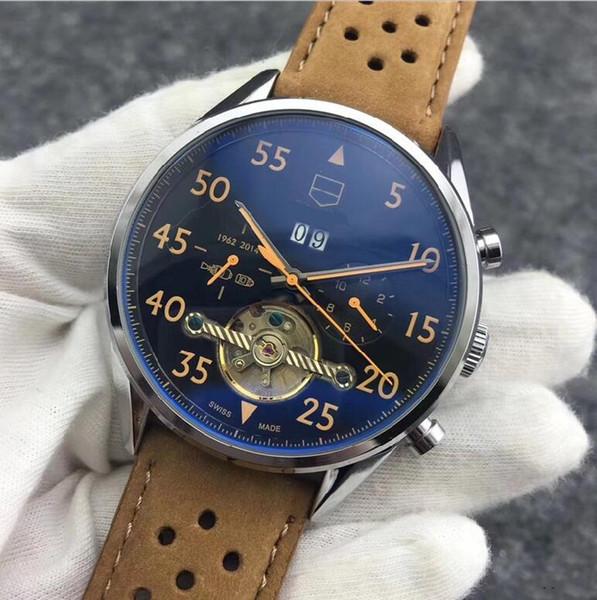 Top-Marke Herren Luxusuhr Chronograph Sportuhren Quarzuhr Automatikwerk Armbanduhren Hot Casual Paar Uhr HEUER