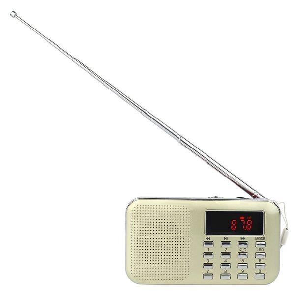 Mini Taşınabilir Am / Fm Radyo Mp3 Müzik Çalar Hoparlör Desteği Micro-Sd / Tf Kartı