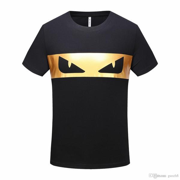 Toptan Toptan marka Lüks yuvarlak boyun T-shirt Sokak Kısa Kollu poloshirt gömlek erkekler teel kalça 3d Tasarımcı erkek t shirt
