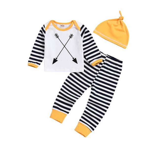 Kids Designer Brand Suits Red Plaid Pants Hat Children Three-Piece Set Round Neck Zebra Stripes Long Sleeves Love Letter Print 61