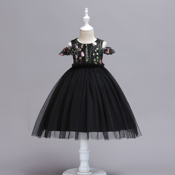 Fashion Flower Dress for Girl Wedding Children Communion Kids Dresses for Teenage Girls Ceremony Tutu Baby Clothing 4-10 Years Vestidos