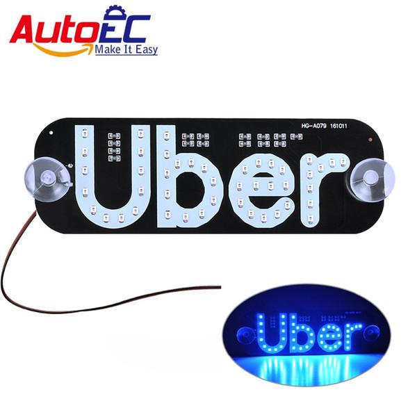 AutoEC 1x Uber panneau Lumière de toit Taxi Top Light Nouvelle LED 12V Voiture Super Bright LED # LQ671