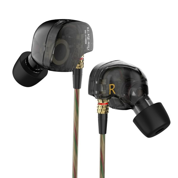 KZ ATE Wired Headphone HiFi Sport Headphones In Ear Earphone For Running With Microphone Headset music Earbuds