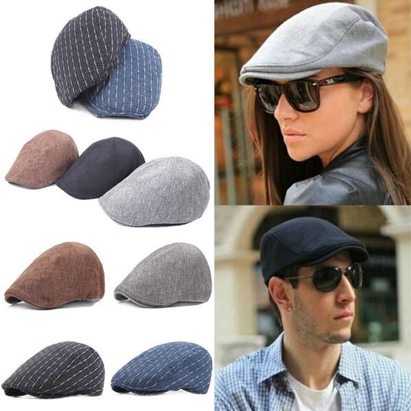 Jornaleiro Gatsby Cap Homens Ivy Hat Golf Condução Plana Cabbie Beret Driver Hat Quente