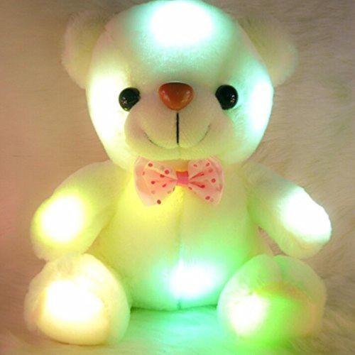 Sevimli Müzik Light Up LED Oyuncak Ayı Hediye Doldurulmuş Hayvanlar Peluş Oyuncak Renkli Parlayan İçin Çocuk Kız