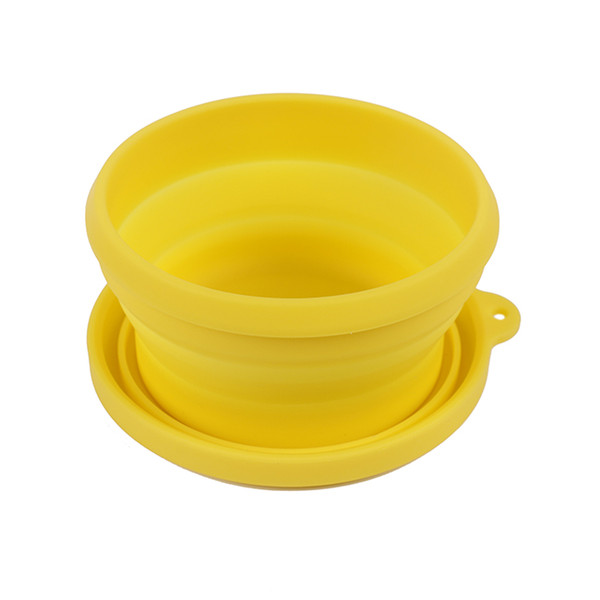 400ml Reusable Collapsible Silicone Lids Lunch Box travel bowl Folding Food Storage Container