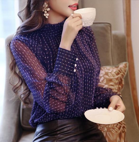Spring Blouse Women Long Sleeved Shirt Female Fashion Loose Blouse Office Lady Clothing