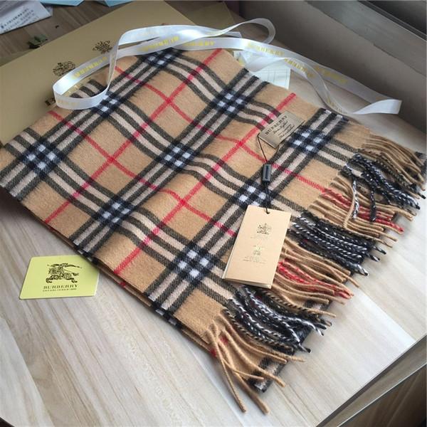 Новый мягкий кашемир шарф классического небольшой плед кашемир шарф мода мужской и женский бренд шарф