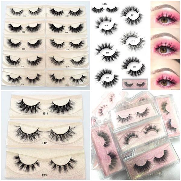 Mink Lashes 3D Mink Eyelashes 100% Cruelty Natural Lashes Handmade Reusable Natural Eyelashes Popular False Eeye Lashes Makeup E series