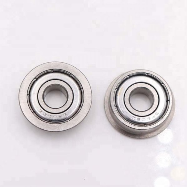 F605zz Metal Double Shielded  Flanged  Ball Bearings 5mm*14mm*5mm