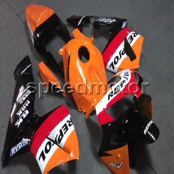 Presentes + Parafusos Molde de injeção repsol orange motocicleta Fairing casco para HONDA CBR600RR 2003 2004 F5 03 04 ABS painéis de motor