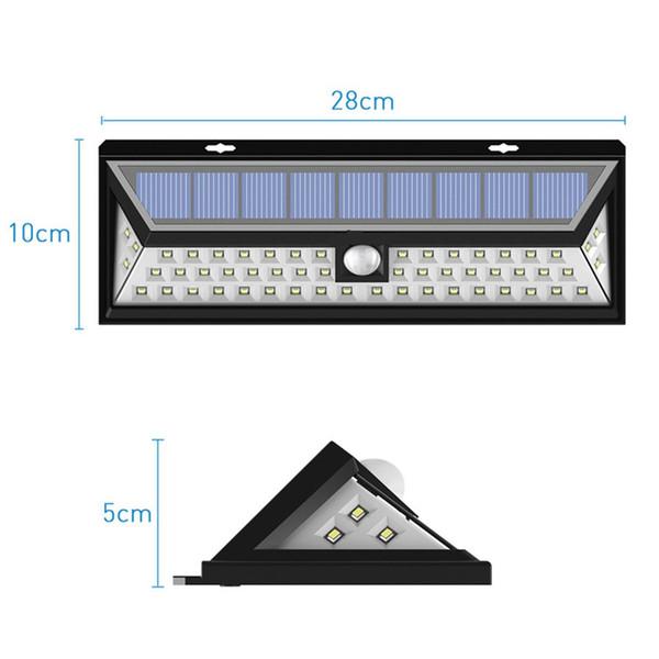 54 LED Super Bright 270°Wide Angle Motion Sensor Lights for Front Door, Yard, Garage, Deck, Porch, Shed, Walkway, Fence