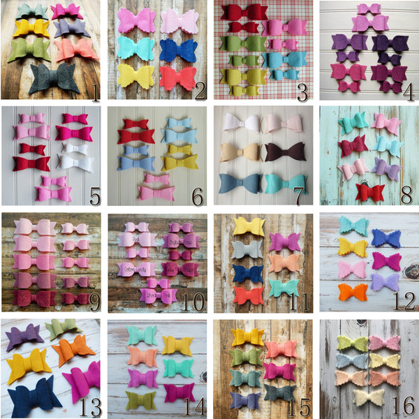 16 style available ! 14pcs Newborn & Infant Toddler 3'' Felt Bow ,For Kids & Girls Baby hairband Hair Accessories