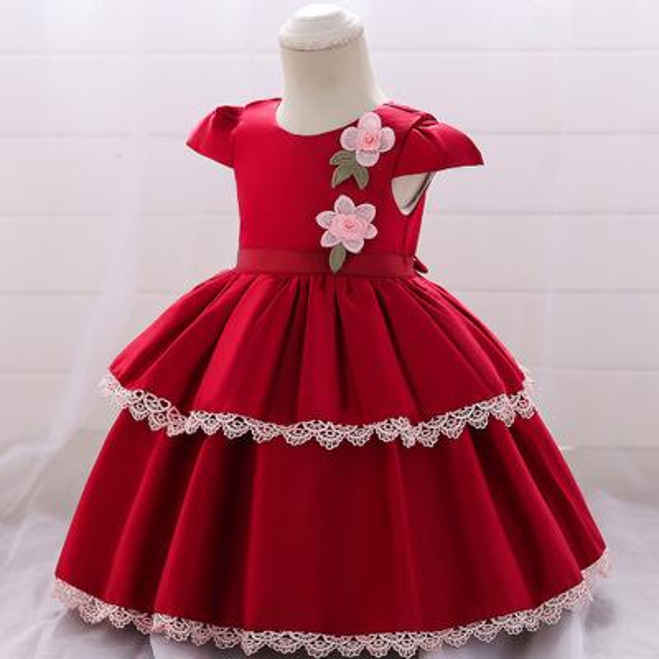 Compre Bulei Si Saia De Cetim De Renda Saia De Algodão Para As Meninas Babyvest Vestido Da Idade Do Bebê Vestido De Festa Desgaste Princesa Roupas Da