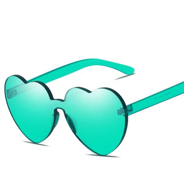Love Sunglasses Candy Siamese sunglasses 11 colors UV400 for Men Women Casual Cycling Outdoor ocean Sun glasses free TNT Fedex