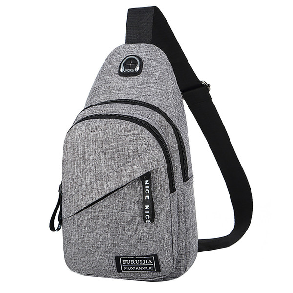Fashion Oxford Cloth Chest Bag Badge Fanny Pack Sports Travel Small Bag Fashion Pockets High Quality bolsa CT