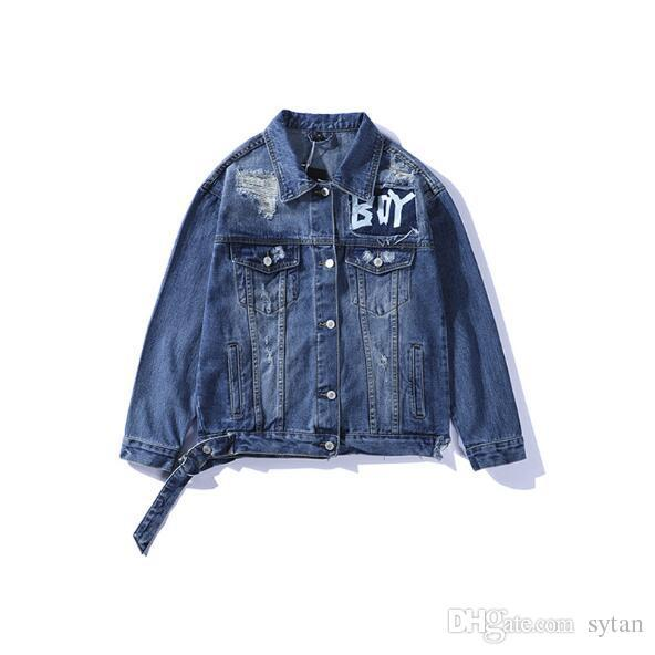New Autumn Winter Lover Hip Hop Denim Jean Jackets Men's Casual Old Hole Tooling Denim Jackets Free Shipping
