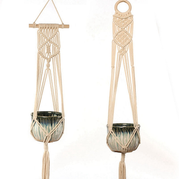 Macrame Plant Hangers Handmade Rope Pots Holder Indoor Wall Hanging Planter Plant Holders 6 Designs Wholesale YW3914