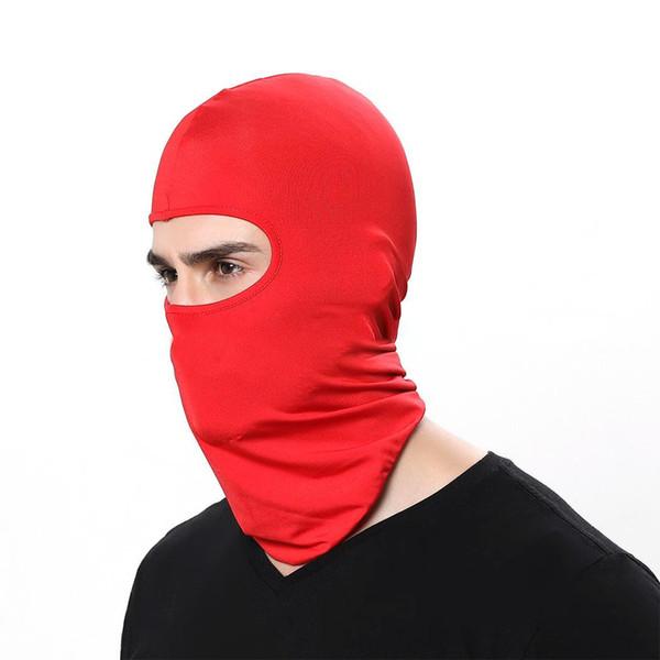 Outdoor Riding Hat Lycra Windproof Sunscreen Solid Dustproof Mask Casual, Sports All Seasons Headgear