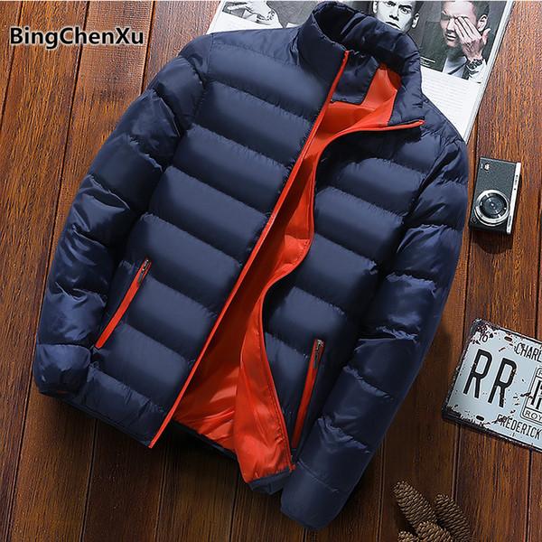 Winter Brand Men Jacket Thick Warm Parka Cotton-Padded Fashion Parka casacas para hombre invierno 2018 Quality Windbreakers 1158