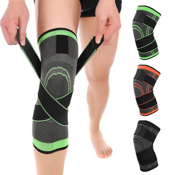 1 pc Professional Knee Suporte Protetor Sports Knee Pad Respirável Bandagem Brace para Tênis De Basquete Ciclismo Engrenagem de Fitness