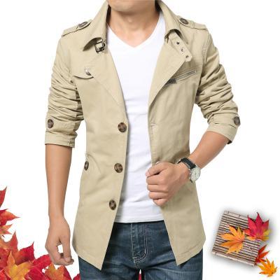 2019 весна осень мода мужская ветровка мужские куртки Slim Fit и пиджаки куртка пальто