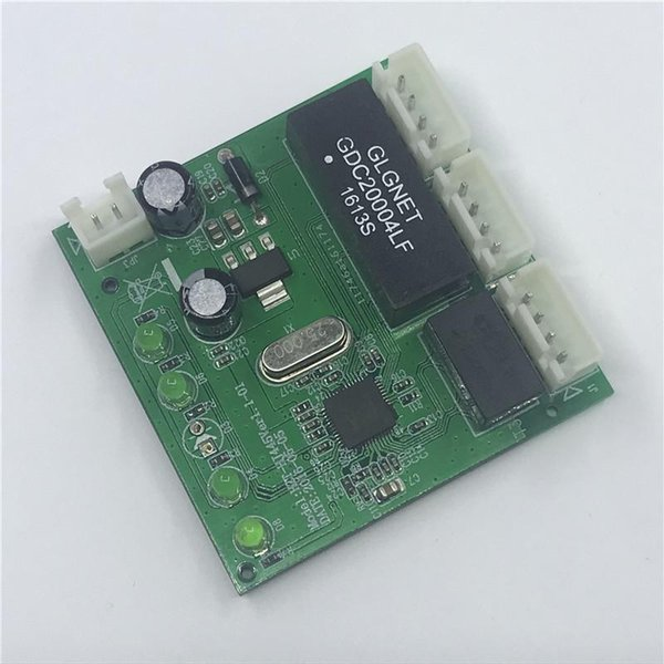 OME 3 ports de commutateur PCBA Module 4 broches tête UTP PCBA Module avec affichage LED vis trou Mini PC OEM usine de données