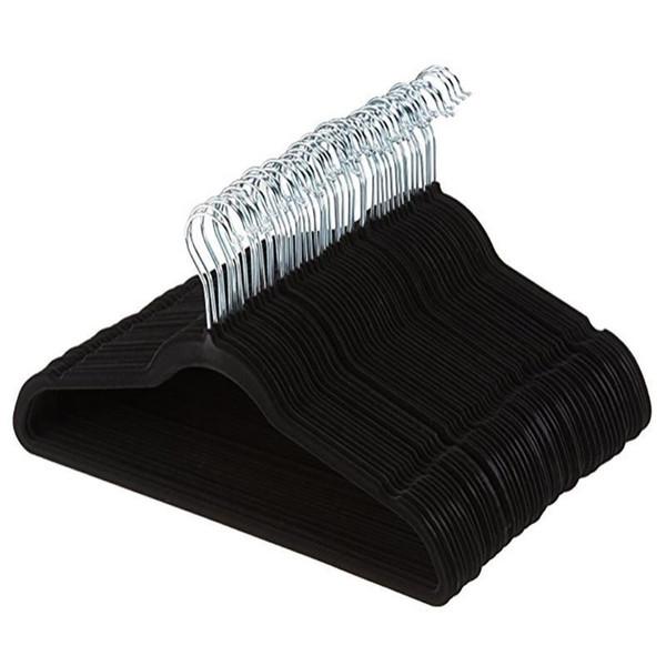 360 degree Swivel Velvet Suit Hangers Racks Non-Marking Space Saving Hangers For Pant Bar Garments Shirt Suit Clothes Black Red