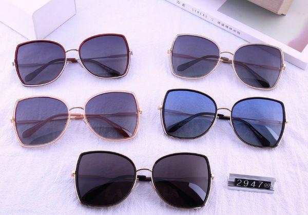 2019 neue männer und frauen polarisierte marke sonnenbrille farbfilm sonnenbrille mode flut big box dünnes gesicht tr90 brille 2947 suneyewear