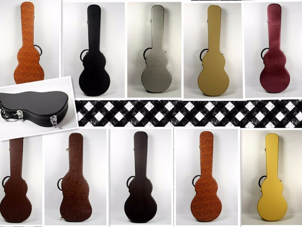 top popular hardcase black,brown,silver and yellow leather choice! 2020