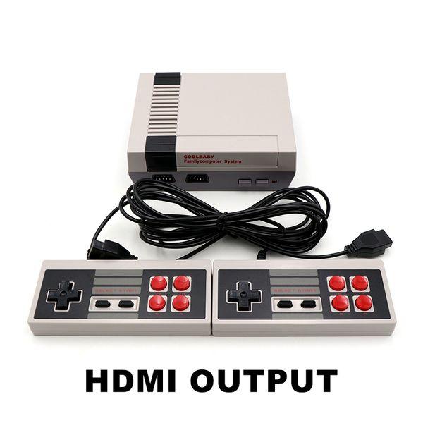 Coolbaby HDMI Mini consola de juegos El reproductor de video puede almacenar 600 juegos 8 Bit NES Family Gift Cuna Desgin