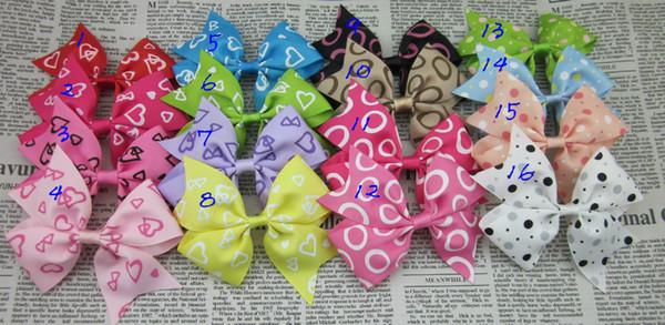 heißer Verkauf 30pcs / lot Haar-Ripsband 3.5inch beugt für Kinderhaarzusatz-Bogen-Butike für Mädchenbowknot-Fliegenhaarclip