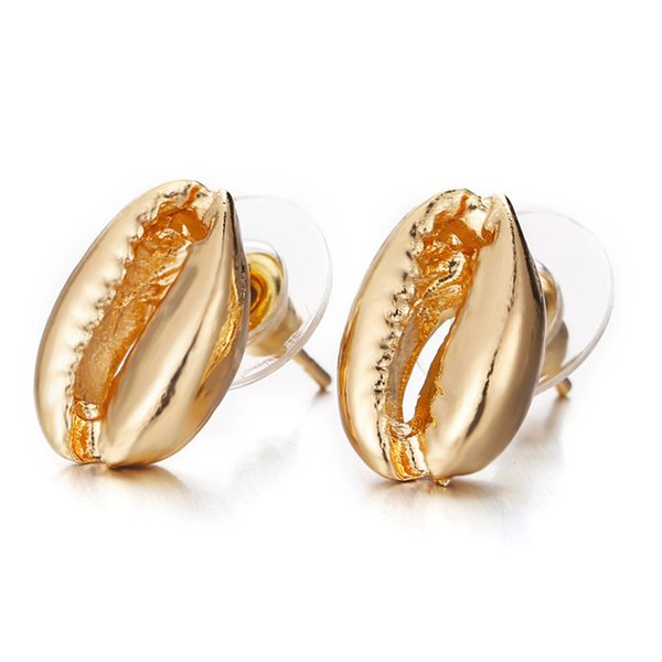 19 styles Fashion New Simple Design Gold sliver Shell Shape Earrings Cute Romantic Sea Shell Earring Women Jewelry Gift HZSEH001