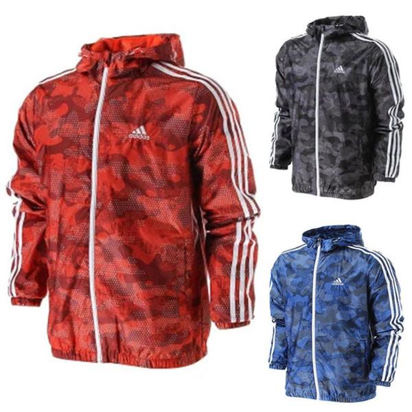 Sıcak Satış Erkek Ceket Yeni Erkekler İlkbahar Sonbahar Windrunner Ceketler Ince Rahat tasarımcı Ceket Ceket Erkekler Spor Rüzgarlık Ceket S-2XL