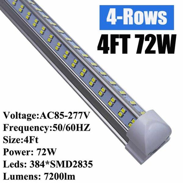 Los 4Ft 72W en forma de V cubierta para el